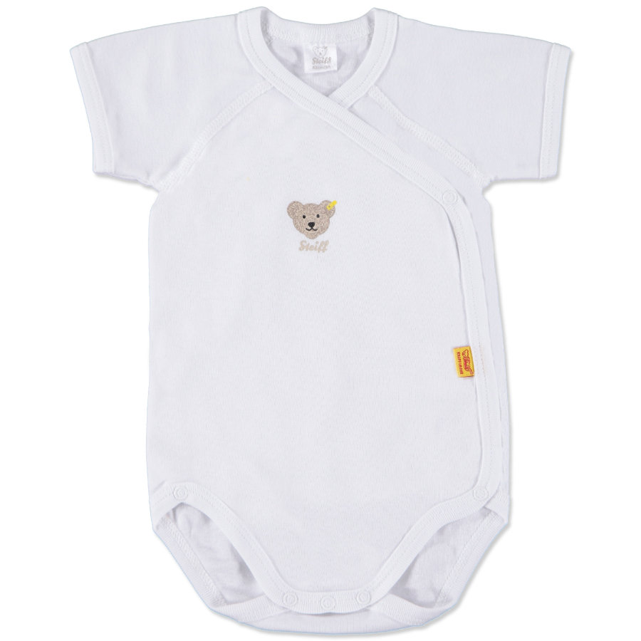 STEIFF Baby Omlottbody Arm bright white