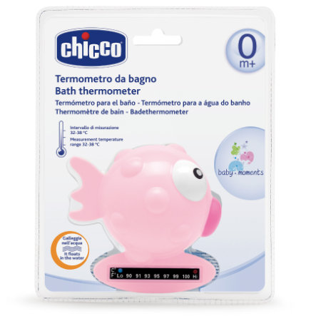 chicco Badethermometer Fisch rosa