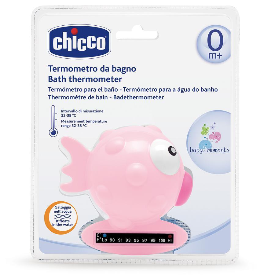 CHICCO Teploměr do vody - ryba, růžový