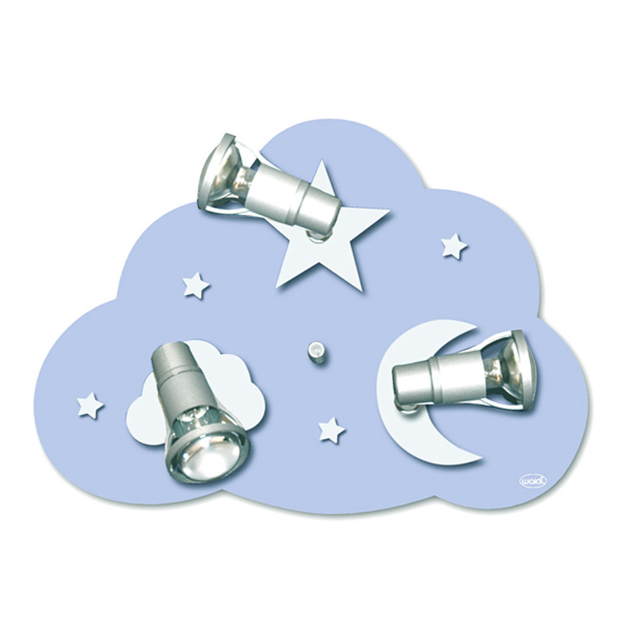 WALDI Deckenleuchte Wolke Starlight 3-flg., 3x9W/E14