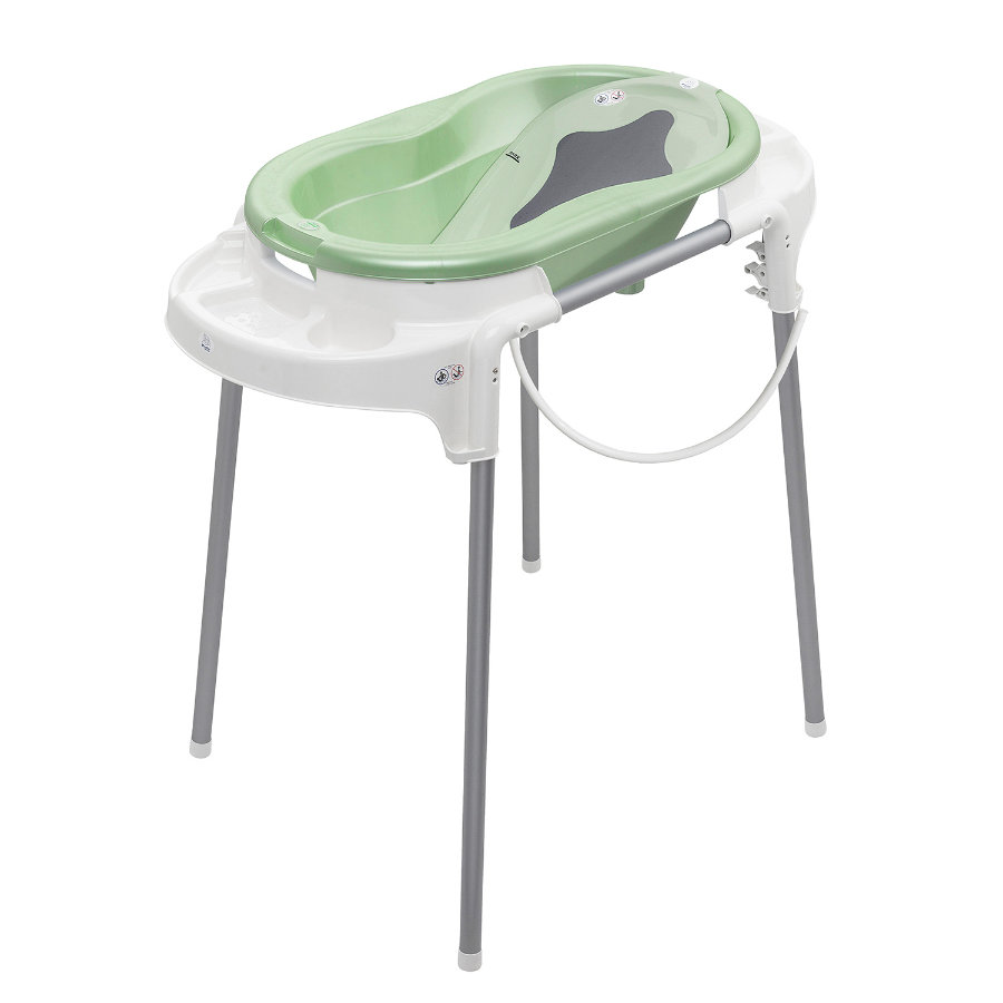 Rotho Babydesign Badestation TOP in lindgrün perl 4-teilig