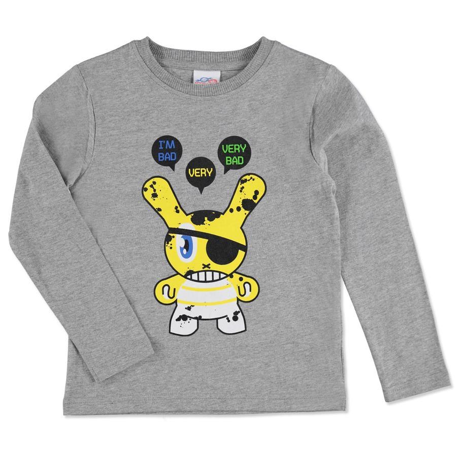 anna & tom Boys Longsleeve Shirt Monster grey melange