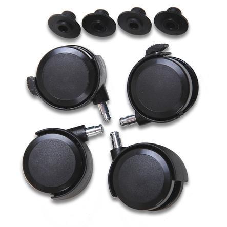 babybay Kit roulettes pour parquet, noir