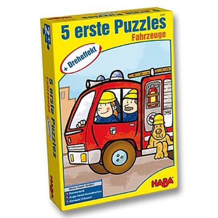 HABA 5 Erste Puzzle Dreheffekt Fahrzeuge 2433