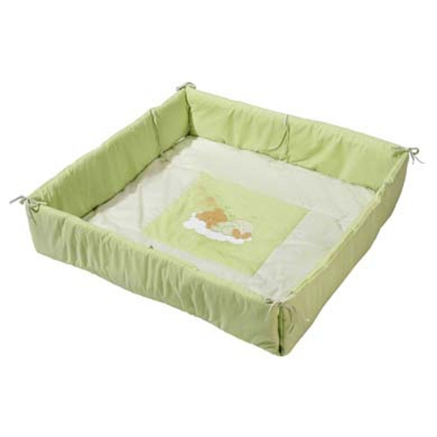 Easy Baby Playpen Liner Sleeping Bear Green