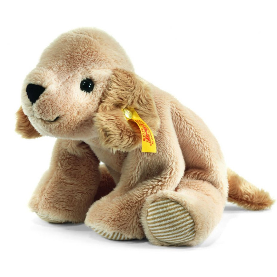 STEIFF Golden Retriever Lumpi couché beige 22 cm