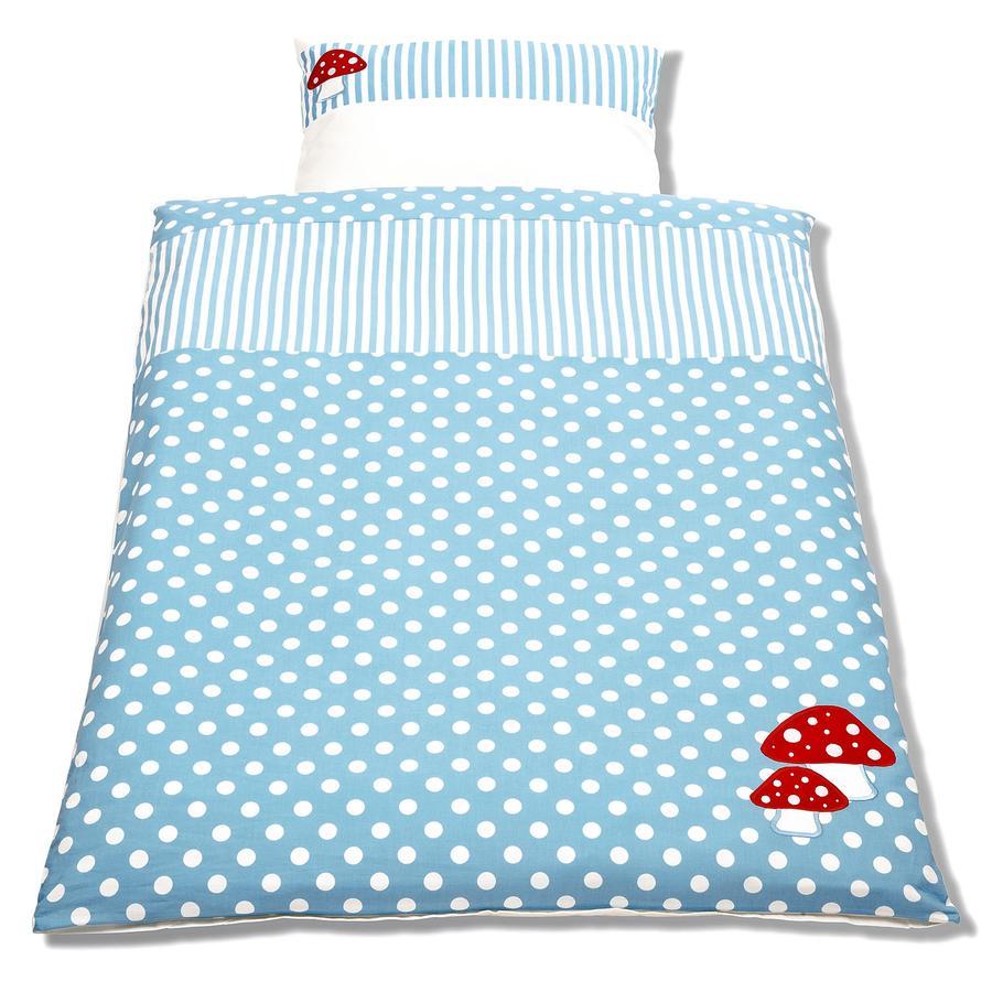 Pinolino Bett- und Kopfkissenbezug für Kinderbetten 2-tlg. Glückspilz - hellblau