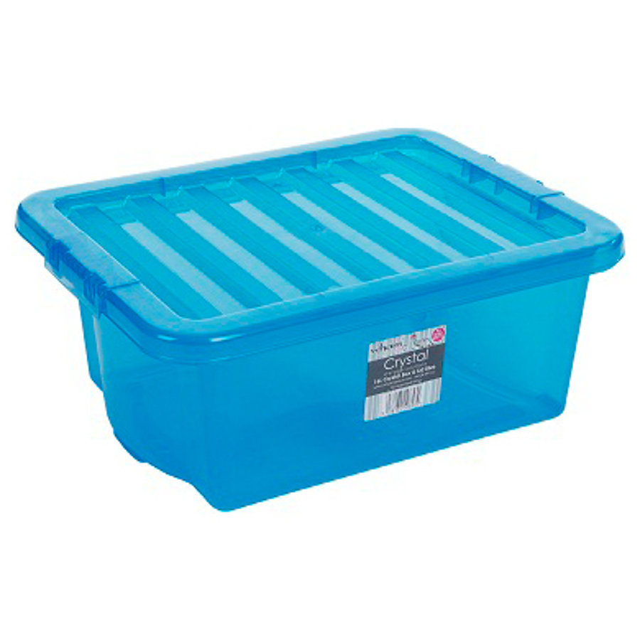 WHAM Crystal 16L Förvaringslåda med lock, blå