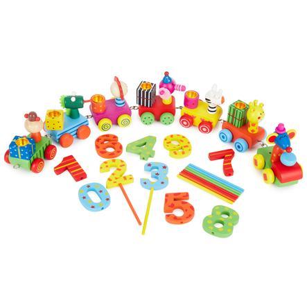BIECO Train d'anniversaire (bougies non incluses)