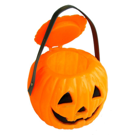 FUNNY FASHION Halloween Pumpkin Candy Bucket