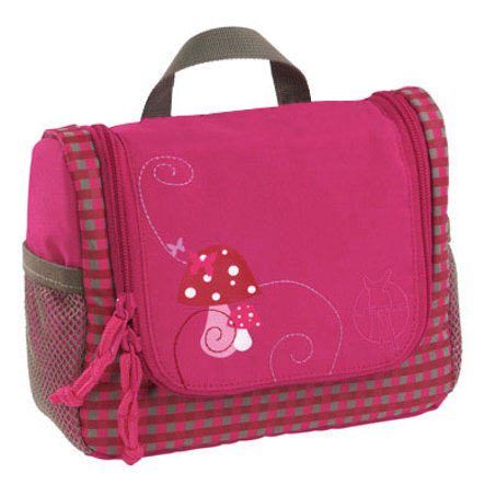LÄSSIG Mini Wash Bag Toiletries Bag Mushroom magenta