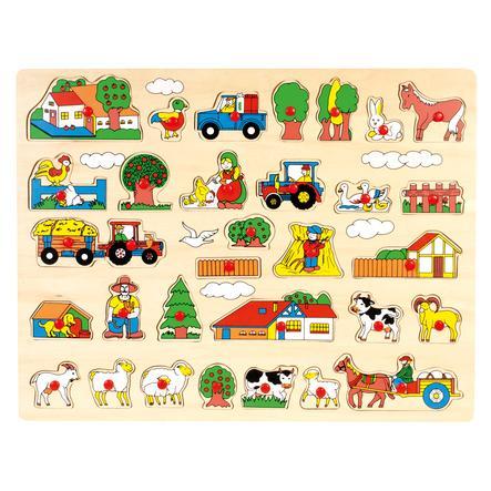 """BINO Zásuvný puzzle se dřeva  """"Bauernhof"""""""