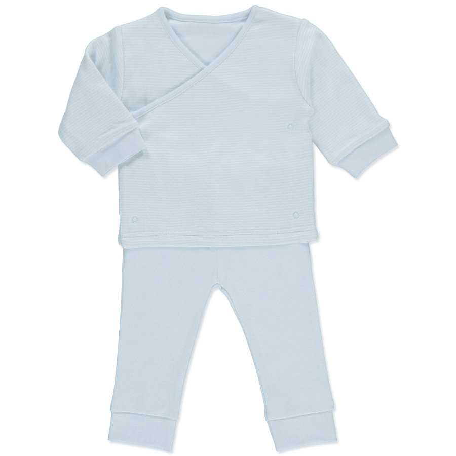 pink or blue Boys Baby Set Wrap Jacket with Trousers light blue/white - 2 parts