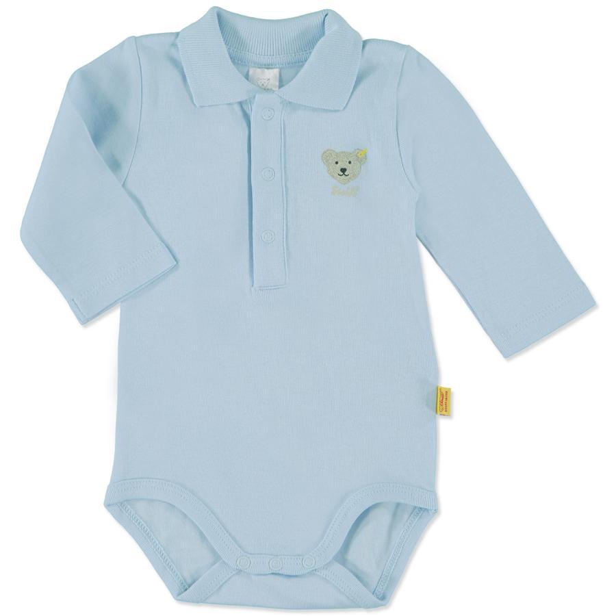 STEIFF Drenge baby body, langærmet, lyseblå