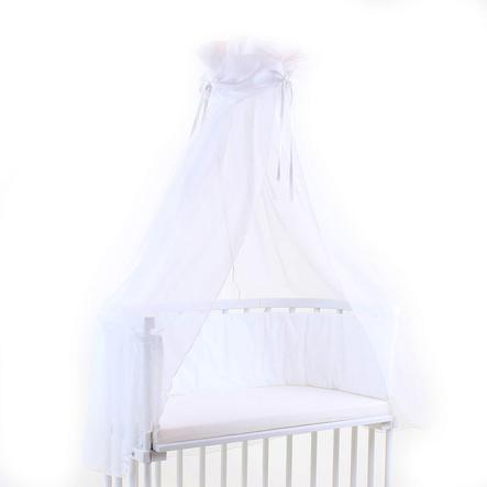 babybay Himmelstoff weiß/weiß 200 x 135 cm