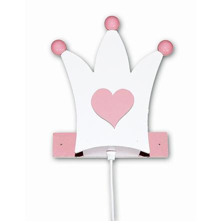 WALDI Applique Couronne, blanc/rose, 1 ampoule