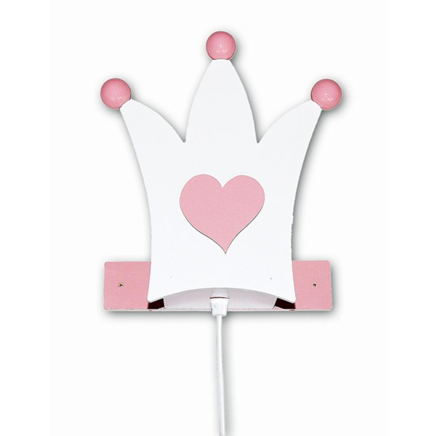 WALDI Lampada da Parete Corona, bianca/rosa