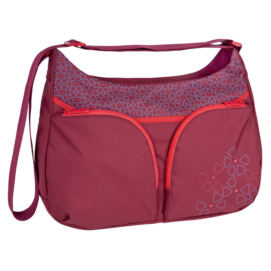 LÄSSIG Sac à langer Basic Shoulder Bag Mosaic Rumba Red