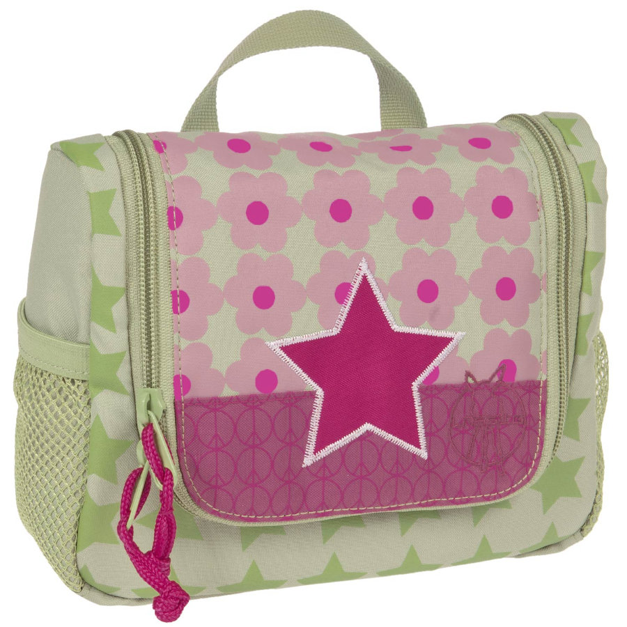 LÄSSIG Mini Wash Bag Toiletries Bag Starlight Magenta