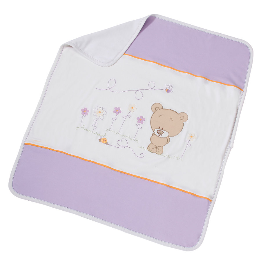Easy Baby Kinderdecke 75x100cm Honey bear lila (462-40)