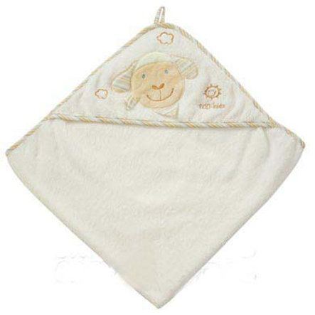 FEHN Asciugamano con cappuccio Baby Love Pecora Paul