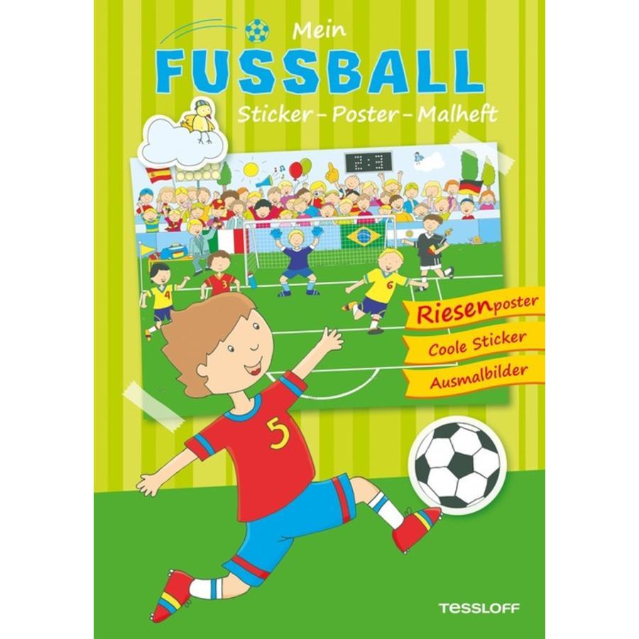 TESSLOFF Mein Fußball Sticker-Poster-Malheft