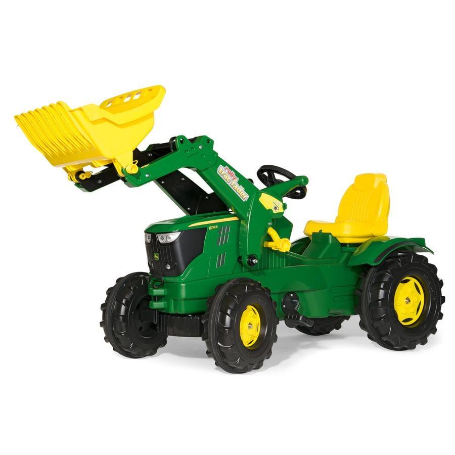 ROLLY TOYS Tramptraktor Farmtrac Traktor John Deere 6210 R med skopa 611096