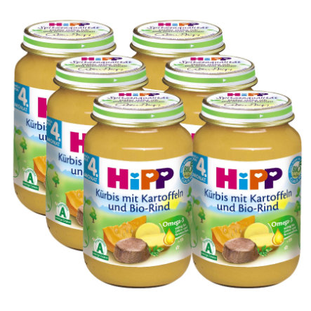 HiPP Bio Pumpkin and Potatoes with Organic Beef 6 x 190g