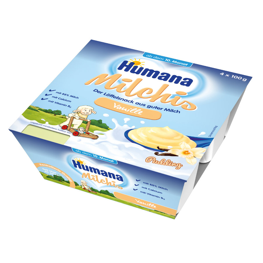 HUMANA Milchis Pudding Vanille 4x100g