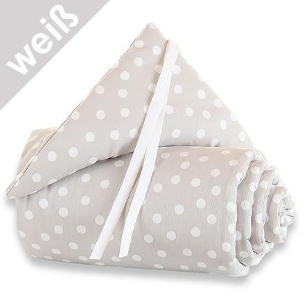 TOBI BABYBAY Maxi hnízdo do postýlky - bílé s puntíky