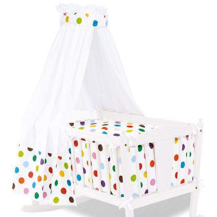 Pinolino Textile Ausstattung für Wiegen 4-tlg. Dots