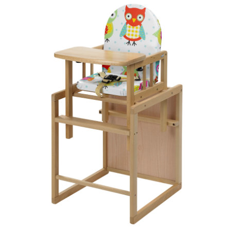Geuther Chaise haute bébé Nico naturel chouettes 031