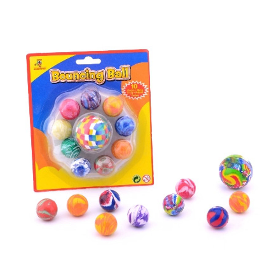 JOHNTOY Summer Fun 10 Rubber Balls
