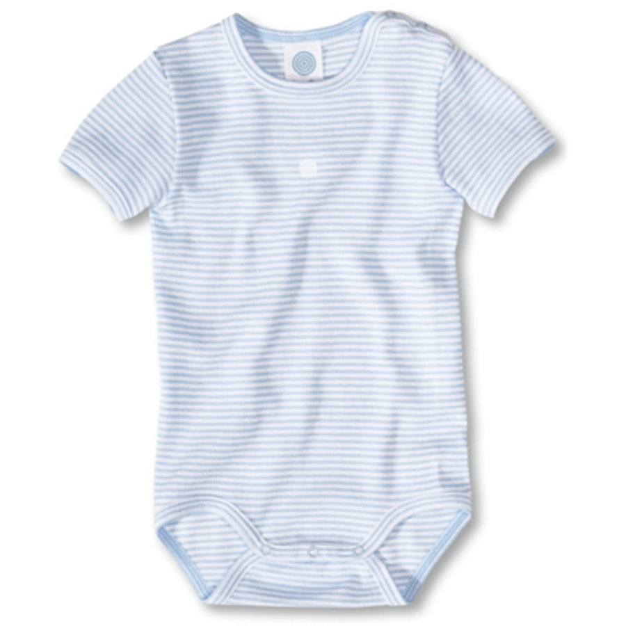 SANETTA Short Sleeve Bodysuit stripes blue Organic Cotton UPF