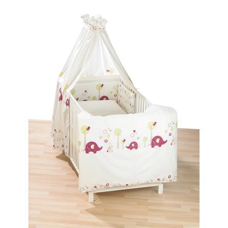 ALVI Set de lit standard Bonnets de nuit - Jardin d'animaux mûre