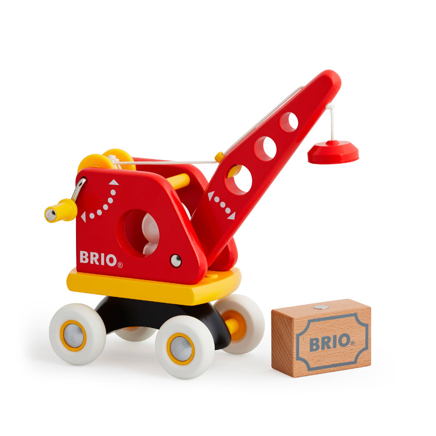 BRIO Grue rouge avec chargement