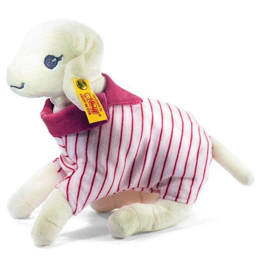 STEIFF Leni Lamb with Body, white/pink, 18 cm