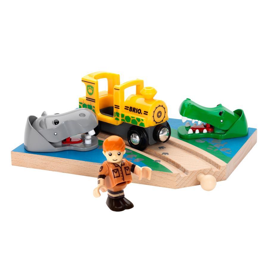 BRIO Safari Krokodyl i hipopotam