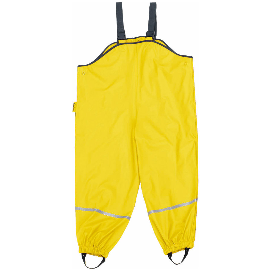 PLAYSHOES Rain Pants with Suspenders yellow