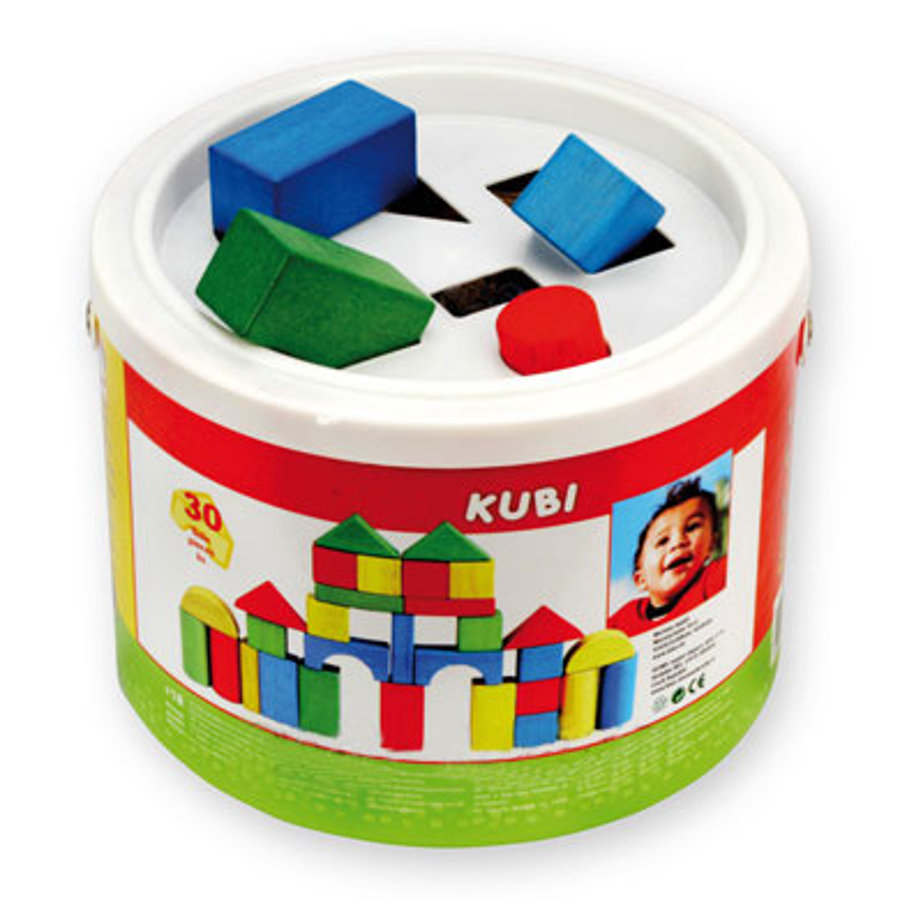 BINO Building Blocks Drum, 30 pcs.
