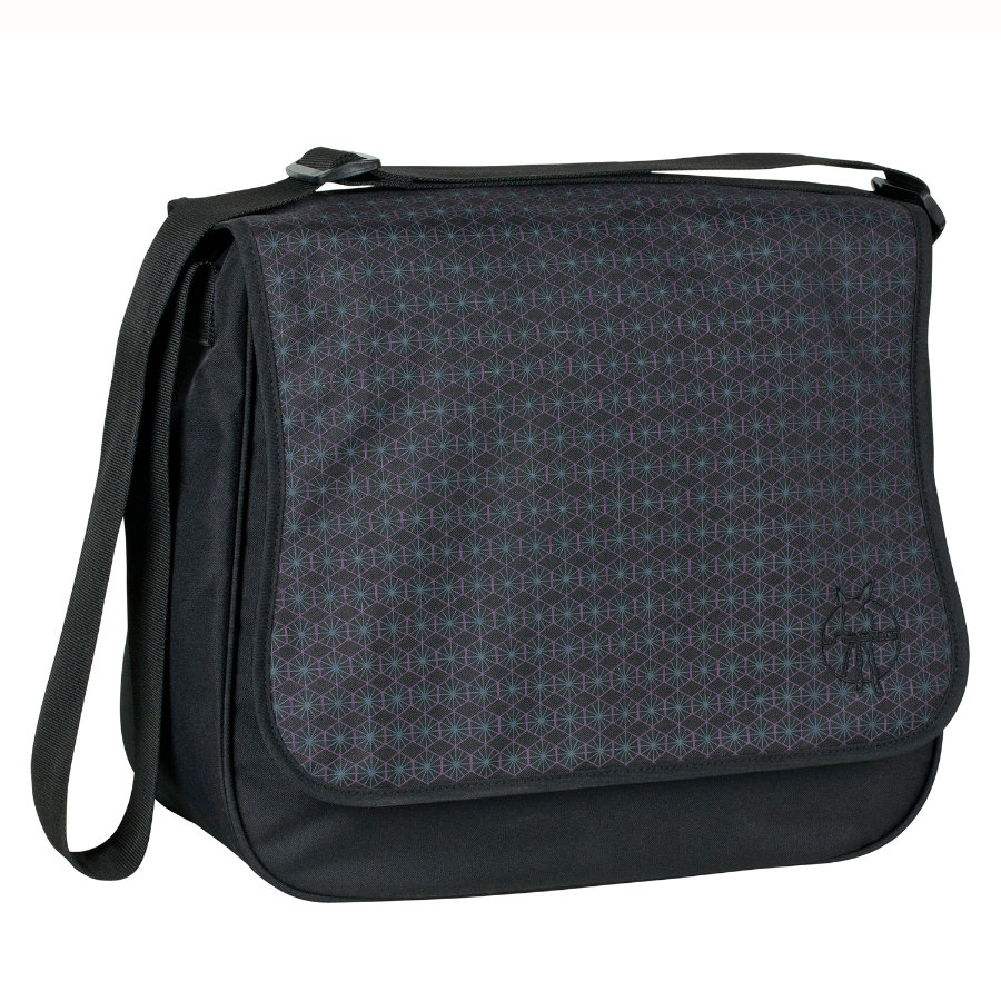 LÄSSIG Luiertas Basic Messenger Bag Comb Black