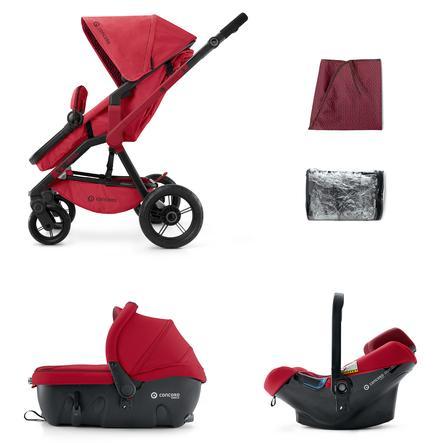 CONCORD Passeggino leggero trio Wanderer Travel-Set Ruby Red, colore rosso