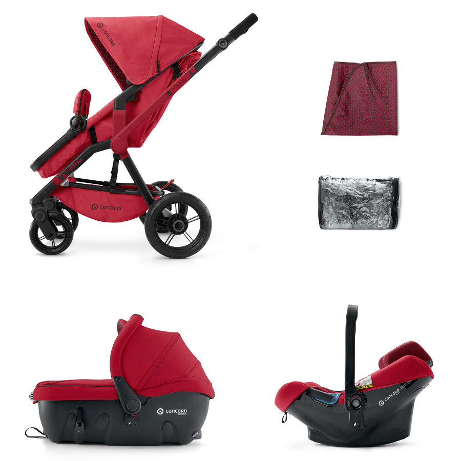 CONCORD Wanderer Travel-Set Ruby Red