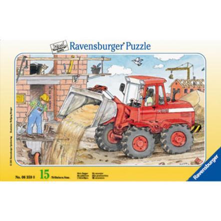 RAVENSBURGER Puzzle cadre Mon bulldozer 15 pièces