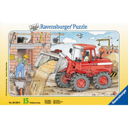 "RAVENSBURGER puzzle ""Můj bagr"" 15 dílů"