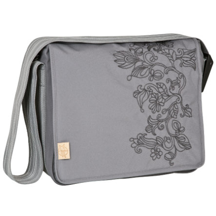 LÄSSIG Wickeltasche Casual Messenger Bag Flornament ash