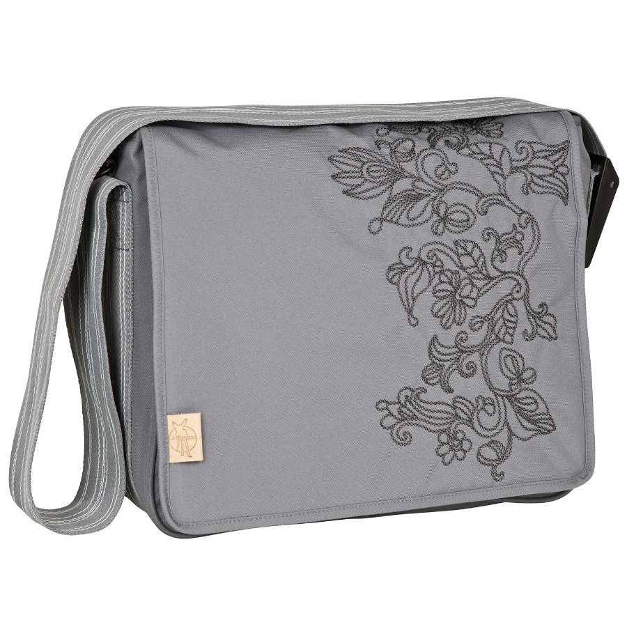 LÄSSIG Luiertas Casual Messenger Bag Flornament ash