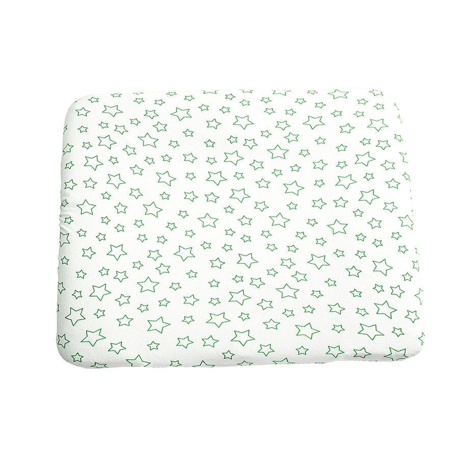 ODENWÄLDER Housse de matelas à langer en tissu éponge, 75 x 85 cm, Étoiles vert citron