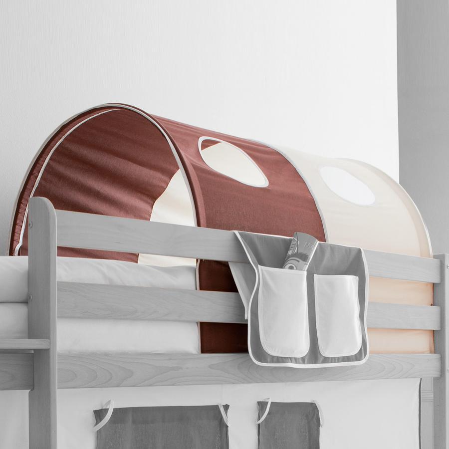 TICAA Tunnel voor hoogslapers en stapelbedden - bruin beige - Classic