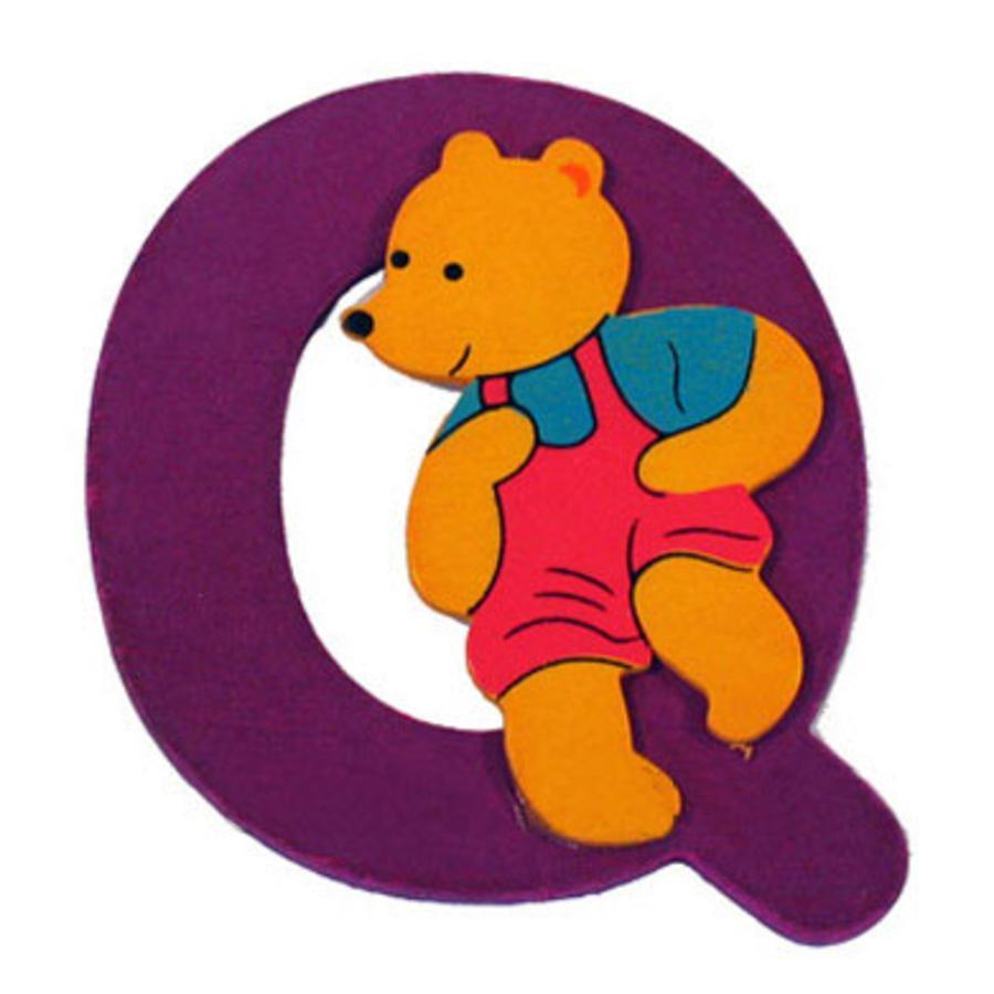 bieco Lettre enfant Q ourson